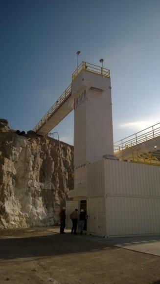 mining operation drone